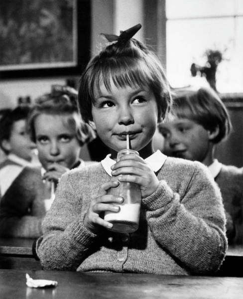 Bangs Photograph - School Milk by Kurt Hutton