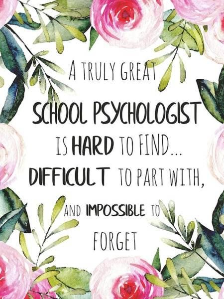 Psychiatrist Digital Art - School Psychologist Thank You Note by Magdalena Walulik