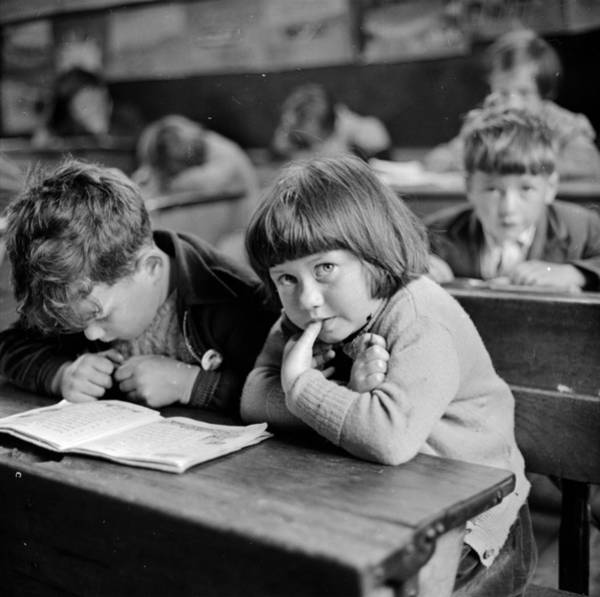 Furniture Photograph - Schooldays by Thurston Hopkins