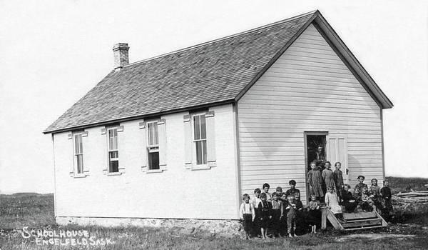 Painting - Schoolhouse, Englefeld, Saskatchewan by Celestial Images