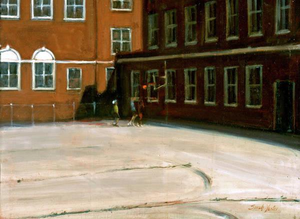 Neighborhood Painting - Schoolyard by Sarah Yuster