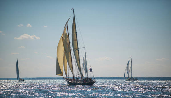 Photograph - Schooners Racing by Mark Duehmig