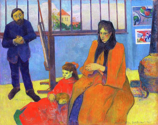 Wall Art - Painting - Schuffenecker's Studio, The Schuffenecker Family - Digital Remastered Edition by Paul Gauguin