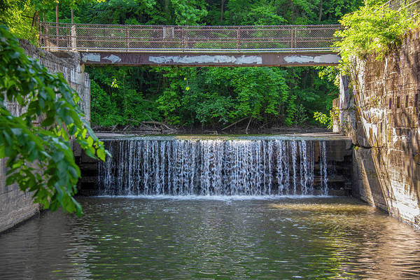 Wall Art - Photograph - Schuylkill Canal - Mont Clare - Overflow Falls by Bill Cannon