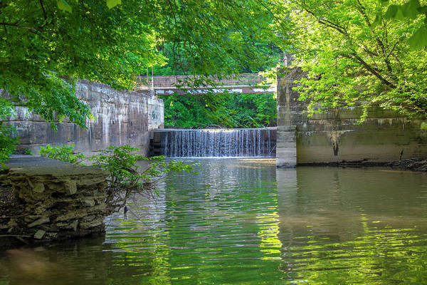 Wall Art - Photograph - Schuylkill Canal - Mont Clare - Overflow Falls Into The Schuylkill River by Bill Cannon