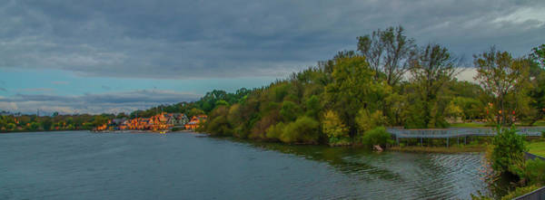 Photograph - Schuylkill River At Boathouse Row In Autumn by Bill Cannon