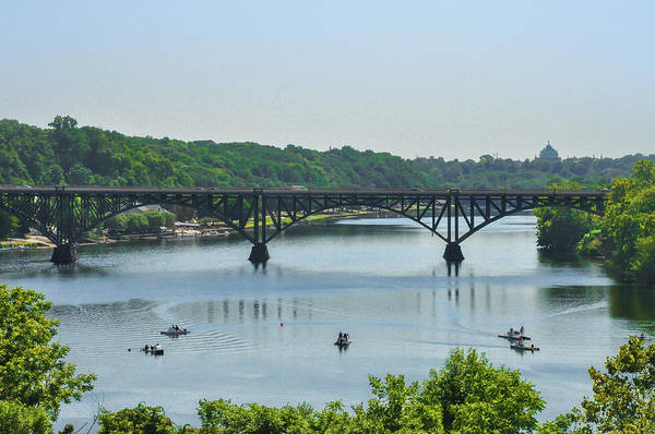 Photograph - Schuylkill River View - Strawberry Mansion Bridge by Bill Cannon