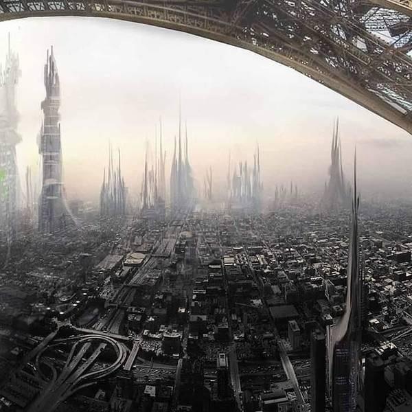 Wall Art - Photograph - Sci Fi Cityscape by Trevor Clarke