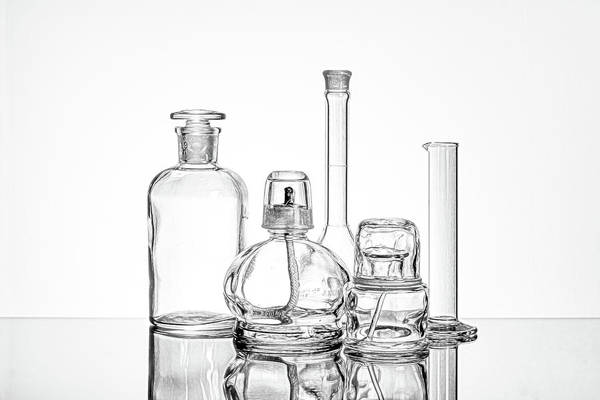 Flask Wall Art - Photograph - Science Still Life by Tom Mc Nemar