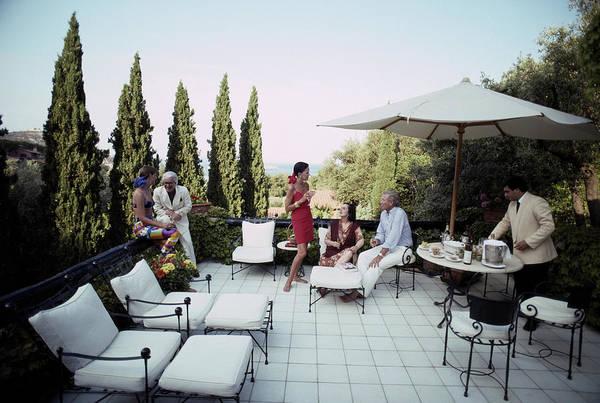 Porto Ercole Photograph - Scio Family Villa by Slim Aarons