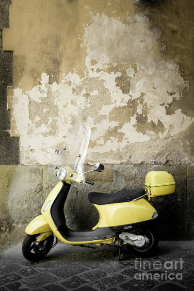 Wall Art - Photograph - Scooter Florence Italy by Edward Fielding
