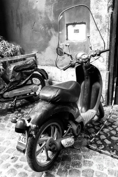 Photograph - Scooter Parking In Rome by John Rizzuto