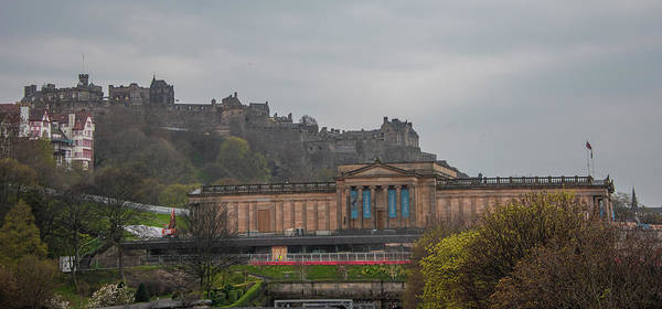 Photograph - Scottish National Gallery And Edinburgh Castle by Bill Cannon