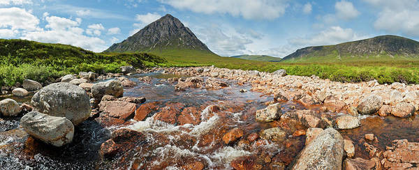 Moor Photograph - Scotland Glen Coe Wilderness River by Fotovoyager