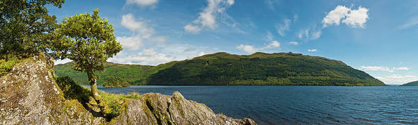 The Trossachs Wall Art - Photograph - Scotland Loch Lomond Mountain Forest by Fotovoyager