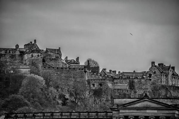 Wall Art - Photograph - Scotland - The Edinburgh Castle In Black And White by Bill Cannon