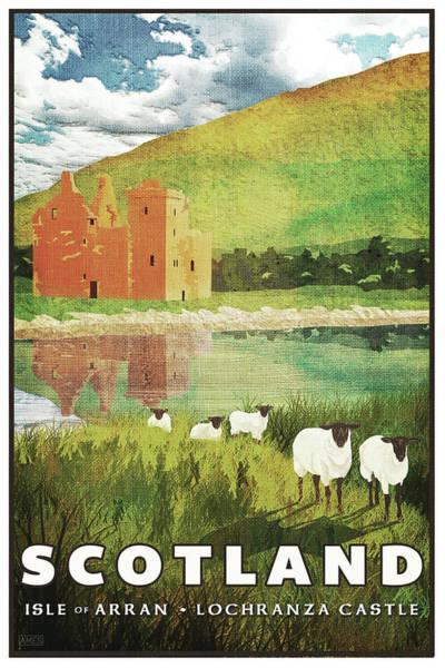 Castles Of Scotland Digital Art - Scotland Travel Poster by Missy Ames