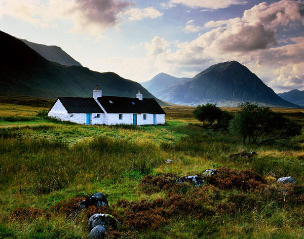 Moor Photograph - Scotland,glencoe,black Rock Cottage by Charlie Waite