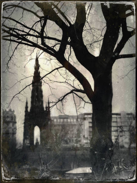 Wall Art - Photograph - Scott Monument Silhouette by Dave Bowman
