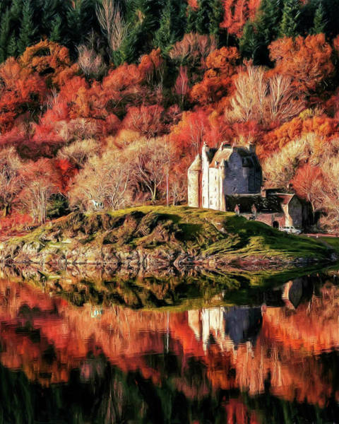 Painting - Scottish Autumn by Troy Caperton
