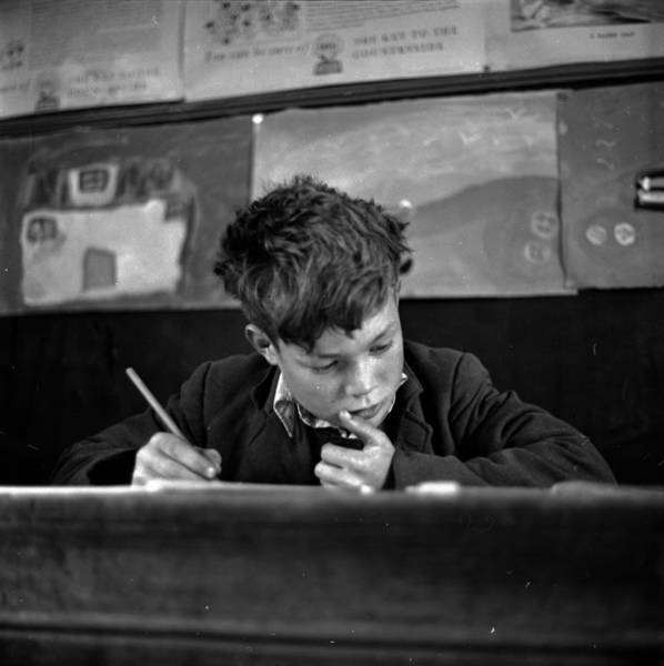 Learning Photograph - Scottish Schoolboy by Thurston Hopkins