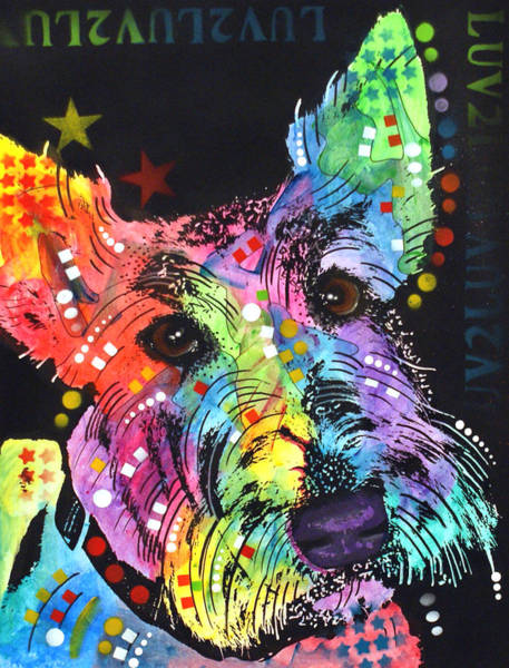 Wall Art - Painting - Scottish Terrier  by Dean Russo Art