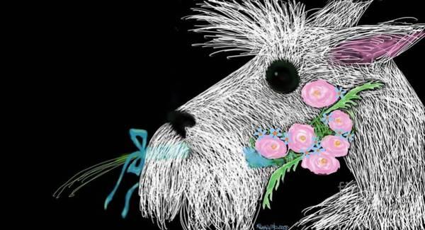 Digital Art -  Scottish Terrier   by Reina Resto