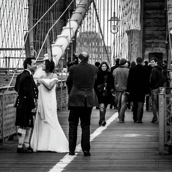 Photograph - Scottish Wedding Couple by Frank Winters
