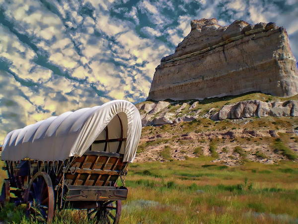 Photograph - Scotts Bluff National Monument by Anthony Dezenzio