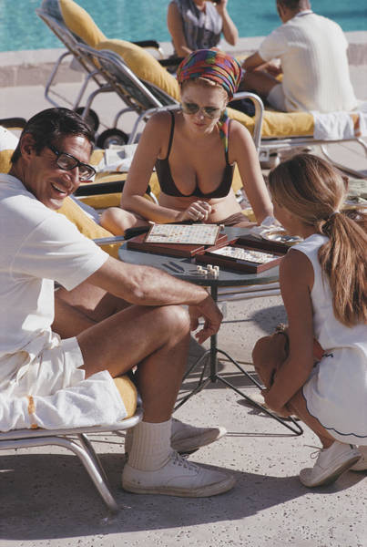 Photograph - Scrabble In Palm Springs by Slim Aarons
