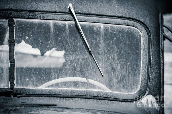 Photograph - Scratched Car Window by Edward Fielding