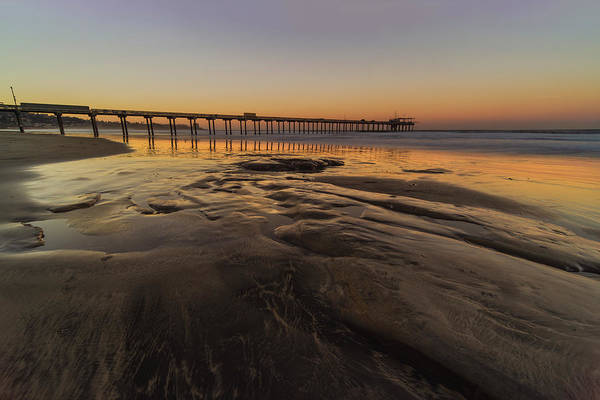 Photograph - Scripps Pier At Sunrise by Jonathan Hansen