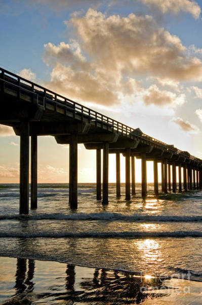 Wall Art - Photograph - Scripps Pier At Sunset In La Jolla California by Julia Hiebaum