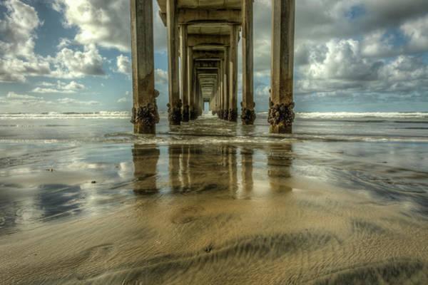 Scripps Pier Photograph - Scripps Pier San Diego California by Constance Puttkemery