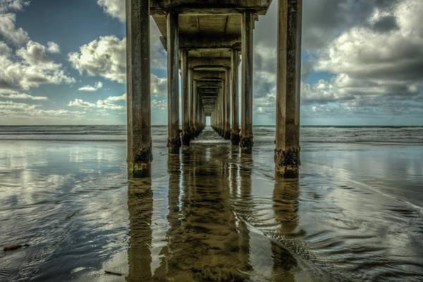 Scripps Pier Photograph - Scripps Pier San Diego by Constance Puttkemery