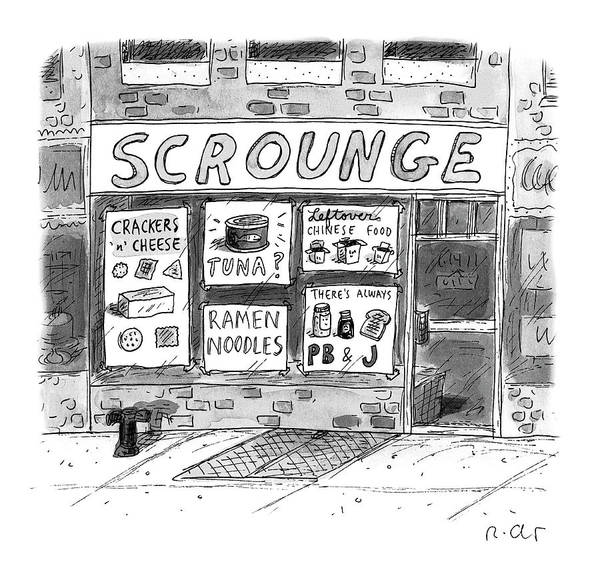 Wall Art - Drawing - Scrounge by Roz Chast