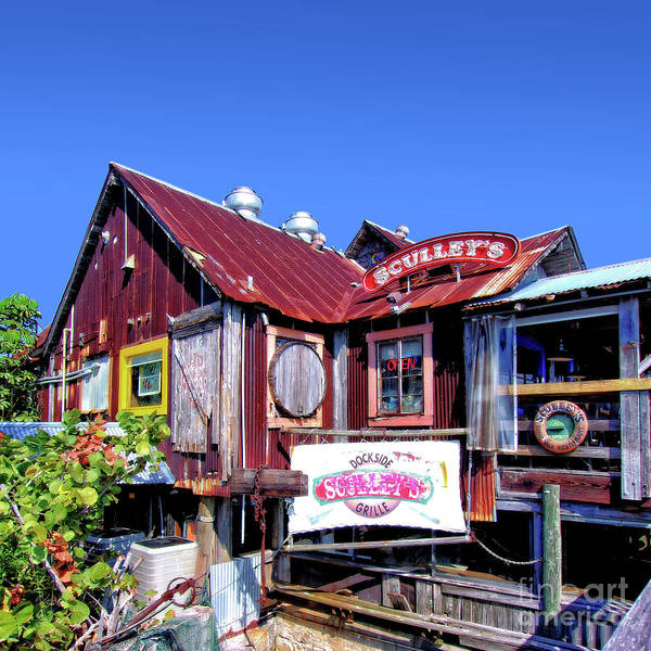 Photograph - Sculley's Dockside Grille by Walter Neal