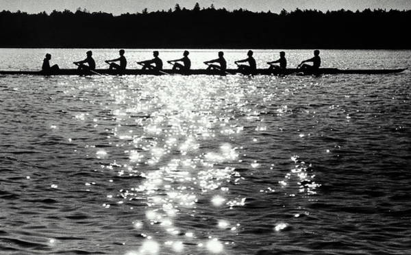 Coordination Wall Art - Photograph - Sculling by M Valeri