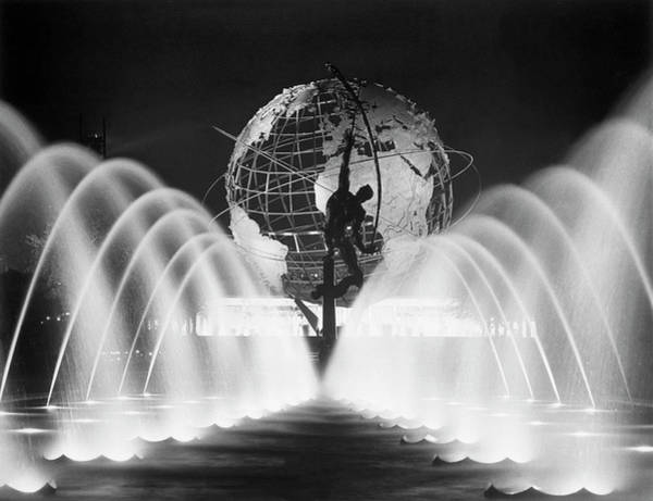 Photograph - Sculpture, Fountains, And Unisphere At by Bettmann