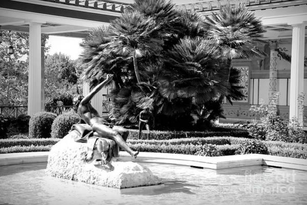 Wall Art - Photograph - Sculpture Getty Villa Black White  by Chuck Kuhn