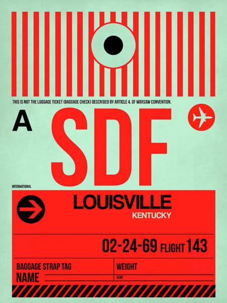Wall Art - Digital Art - Sdf Louisville Luggage Tag I by Naxart Studio