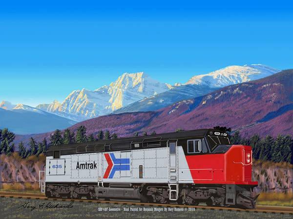 Wall Art - Digital Art - Locomotive Engine Sdp-40f by Gary F Richards