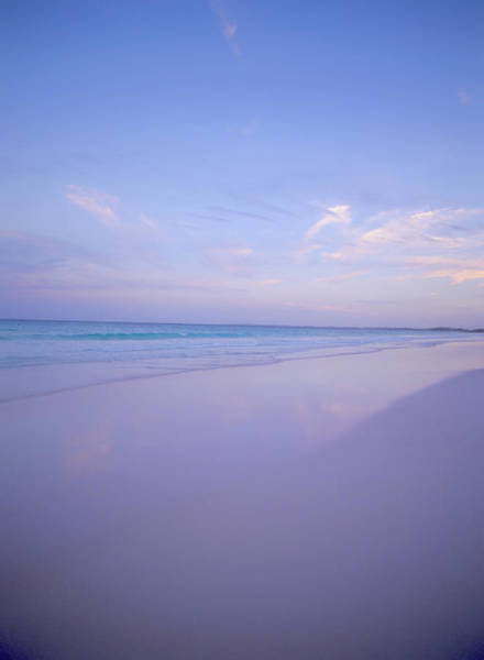 Eleuthera Island Photograph - Sea And Sand At Sunset At Pink Sands by Ellen Rooney / Robertharding