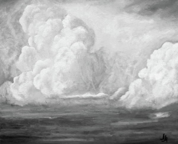 Wall Art - Painting -  Sea Cloud Bw.  by SurfArtTango Marina Lisovaya