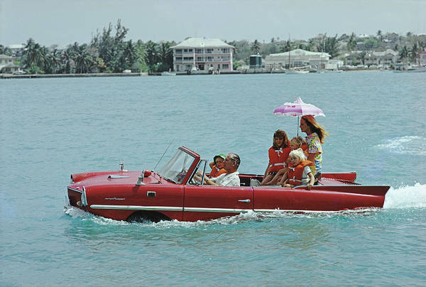 Bahamas Photograph - Sea Drive by Slim Aarons