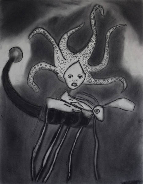 Drawing - Sea Fly by Nadija Armusik