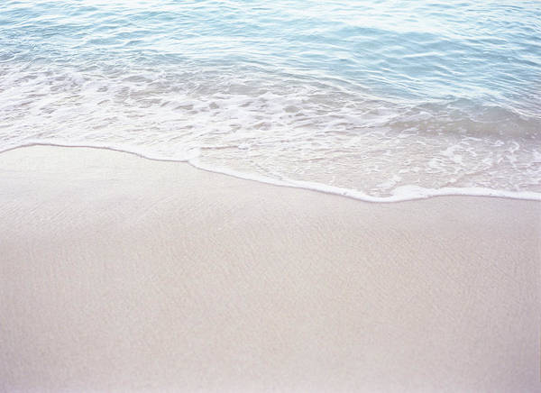 Waters Edge Photograph - Sea Foam At Waters Edge by Julia Fishkin