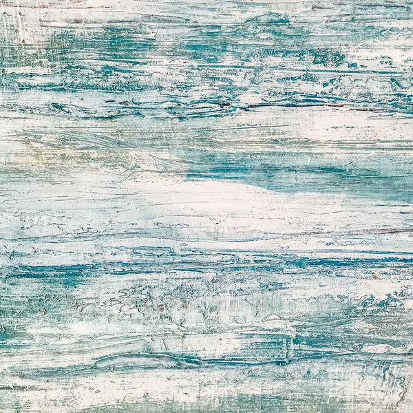 Painting - Sea Foam Blue Acrylic Textured Abstract by Sheila Wenzel