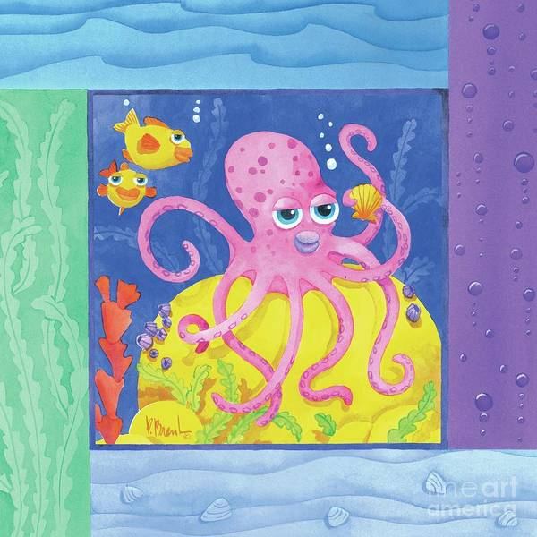 Sealife Painting - Sea Friends - Octopus by Paul Brent