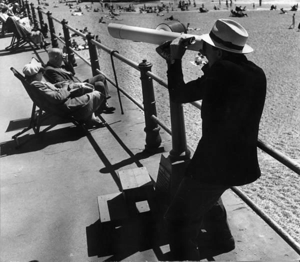 Deck Chair Photograph - Sea Front Spy by Jack Esten